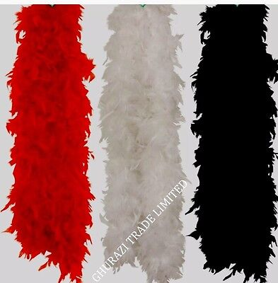 3X Feathers Boa 150cm 3 Assorted Colors Burlesque Showgirl Hen Night Fancy Dress