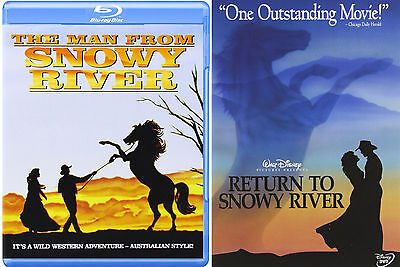 The Man From Snowy River (Blu-ray) & Return to Snowy River (DVD) NEW 2 Sets