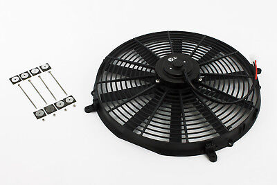 "16"" 220W Electric Fan 12v Straight Blade Stoney Racing Slim Radiator Cooling"