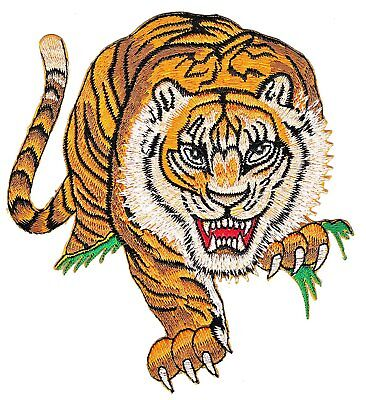 Hunting Tiger Applique Patch Sew Iron-on Embroidered DIY Patch