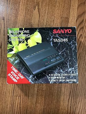 Sanyo TAS346 Telephone Answering System - Vintage