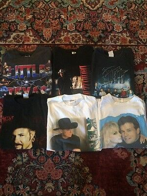 Lot Of 6 Vintage Country Tour T Shirts
