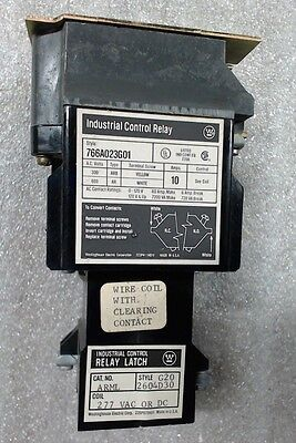Westinghouse 766A023G01 & relay latch ARML G20 2604D30 277V