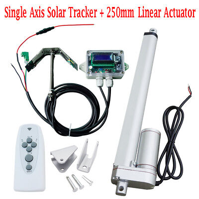 "DC 12V Volt Solar Panel Single Axis Tracker Tracking System & 10"" Motor"