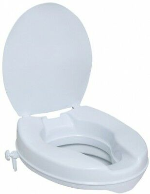 NRS Healthcare M11132 Stanton Raised Toilet Seat With Lid - 10 Cm (4 Inches)