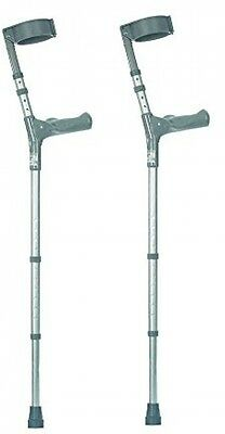NRS Healthcare Double Adjustable Crutches With Comfy Handle, Medium Height -