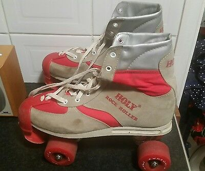 Unisex Retro Disco Style Holy Rock Rollers Roller Boots Quads Sz 1 4 7 Red Blue