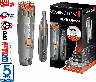 Remington Mens Gentlemans Beard Trimmer Shaver & Nose Trimmer Tool Kit - MB4011
