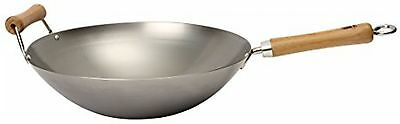 School Of Wok 'Wok Star' Carbon Steel Wok, Silver, 14-Inch