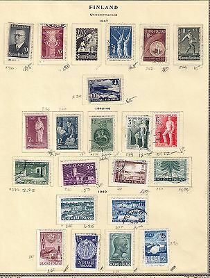 FINLAND STAMPS ON 8 ALBUM PAGES MH/USED Cat.$211