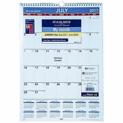 At-A-Glance PMA2-28, July 2017 thru June 2018 Academic Wall Calendar, 12x17""