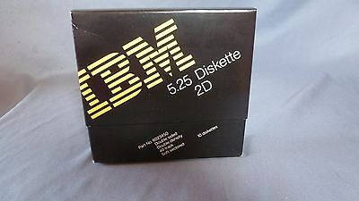 "IBM 5.25"" 2D Diskettes Floppy Disks - Box of 10 - IBM P/N 6023450 - NEW"