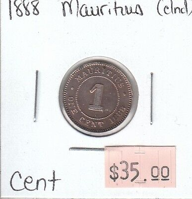 Mauritius Cents 1888 Circulated