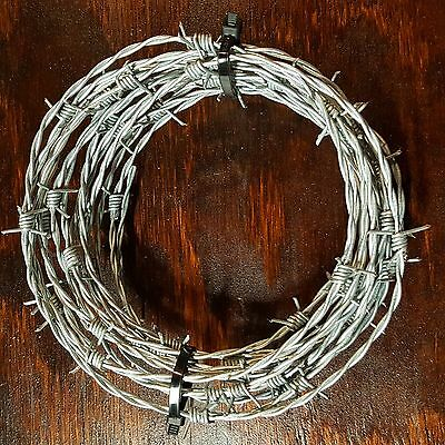 20 Feet Barb Wire, Barbed Wire New Bekaert 15.5 Gauge 4 Point Crafts Made In Usa