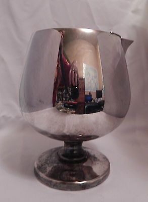 Vintage Poole Mid Century Modern Silver Plate Sniffer Cocktail Pitcher Shaker