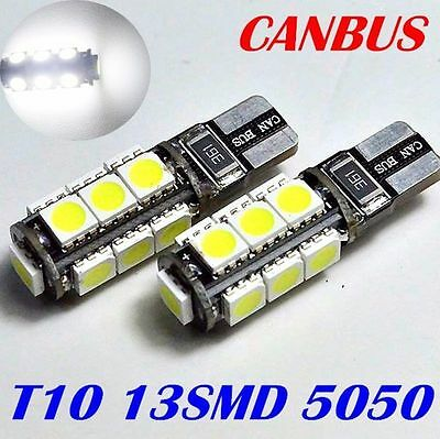 T10 Car Bulbs LED ERROR FREE CANBUS 13SMD Xenon White W5W 501 Side Light Bulb UK