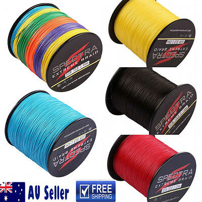 AU Stock Spectra 300M-1000M Multicolor Blue Yellow Dyneema Braided Fishing Line