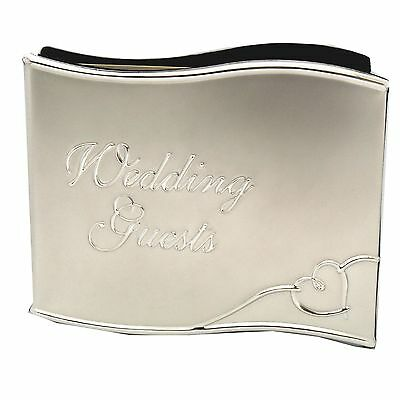 Wedding Guests Heart Silver Metal Quality Wedding Guest Book