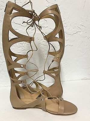 387fbd5a92a Nwb Ivanka Trump Camila Gladiator Natural Leather Sandals 10M Msrp  180  Display