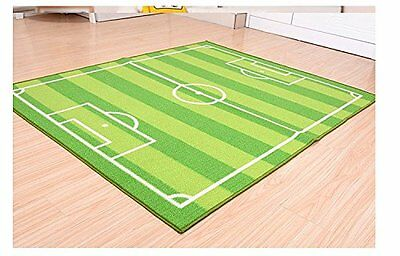 FUNS Soccer Field Ground Room Carpet Mat Kids Area Play Rug 51'' W x70'' L