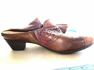 """cobb Hill"" Women's Brown Shoes Size-10W Leather Upper Suede Inside Made In Chin"