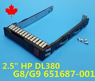 "NEW HP DL380P G8 G9 2.5"" SAS SATA HDD Tray Caddy 651687-001 651699-001 w/ Screws"