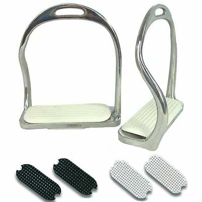 Best On Horse Equestrian Classic Riding Stainless Steel Stirrup Irons Treads