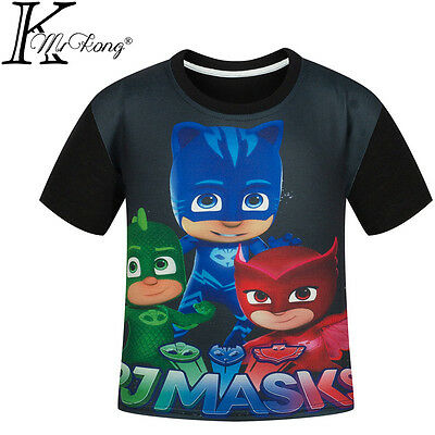 PJ Masks T-Shirt Kids Clothing Boys Girls Summer Short Sleeve Tops