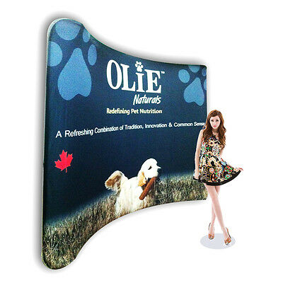 10ft Curved Custom NEW Version Pop Up Backwall Fabric Tension Trade show Display