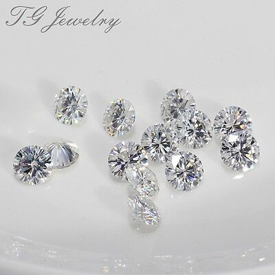 Round Excellent Cut Moissanites Loose Stone lab-Created Diamond 0.7mm 10-30PCS
