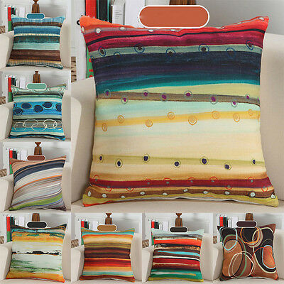 Stylish Abstract Striped Pattern Pillow Case Cushion Cover Sofa Décor CUCFN0226