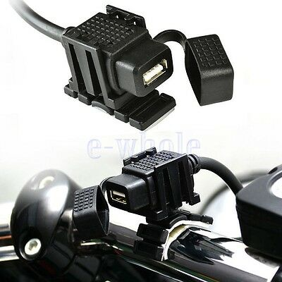 Waterproof Motorcycle Mobile Phone GPS USB Power Supply Port Socket Charger DT