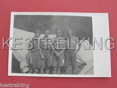 Boys Scouts Group with Uniform and Badges visible RPPC Postcard