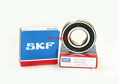 1 pc New SKF Brand 6205-2RS Ball Bearings with Rubber Seals 6205-2RS1