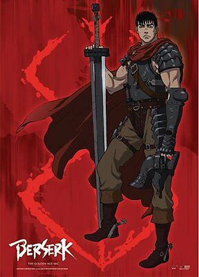*NEW* Berserk: Guts & Brand of Sacrifice Wall Scroll by GE Animation