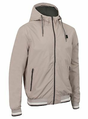 Mens Lightweight Hooded Jacket Coat Top Lined Zip Hoody Stylish New Fashion