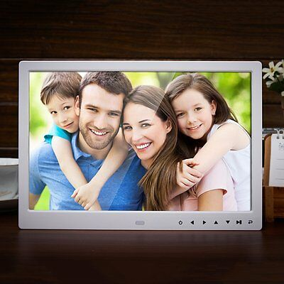 """13"""" 1280*800 HD Front Touch Digital Photo Wide Screen Picture Frame AU Plug GT"""