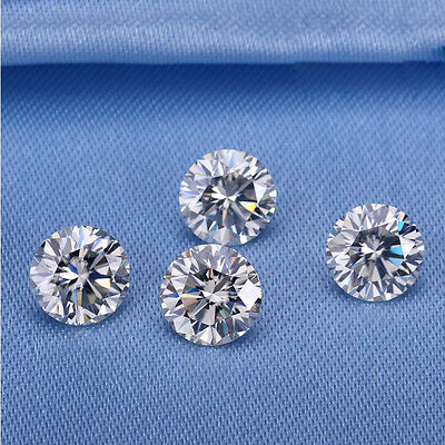 10 mm 4Ct Round Excellent Cutting VVS1 White Moissanite Loose Stone with Case