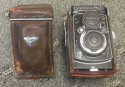 Yashica MAT Camera Copal MXV 80mm 1:3.5 w/Case and Caps