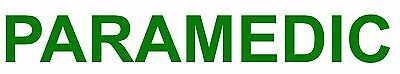PARAMEDIC decal sticker medical ambulance first aid event car sign GREEN helmet