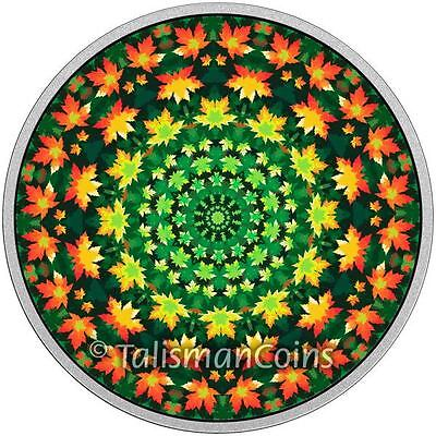Canada 2016 2017 Kaleidoscope of Canadiana Maple Leaf $20 Color Pure Silver Prf