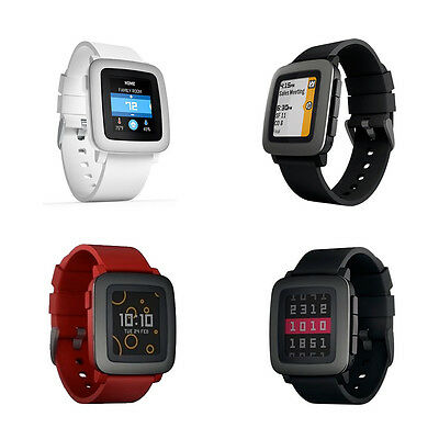Pebble Time Smartwatch for Smartphone, Color E-paper Display Alerts,