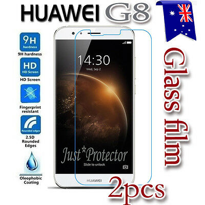 2x Huawei G8 Tempered Glass / Plastic LCD Screen Protector Film Guard