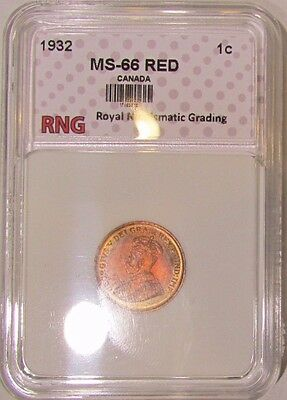1932 RNG Graded & Slabbed MS++++++ Canada Small Cent (Penny) - Condition Rarity