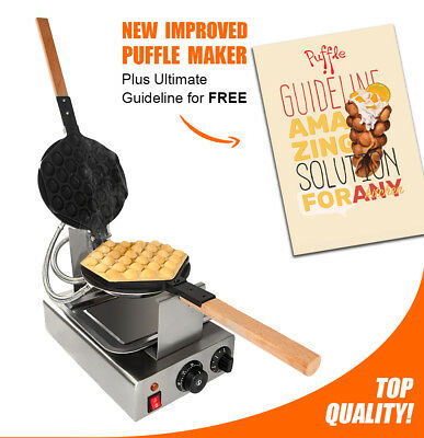 """BUBBLE WAFFLE MAKER """"PUFFLE FY-6R"""" Professional Non-Stick 110V for EGG WAFFLES"""