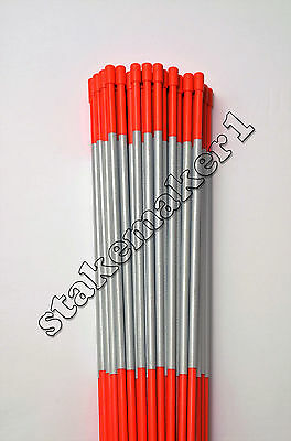 Driveway Markers Snow Stakes 13 Pack of 48 Inch Orange Reflective markers
