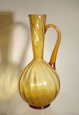 Antique Vintage Blown Glass Vase Made In Italy Midcentury Modern
