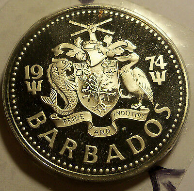 Barbados - 1974 2 Dollars - KM15 - Proof - Mint Sealed In Plastic