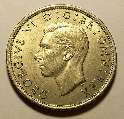Great Britain - 1951 Half Crown - KM879 - King George - XF Condition