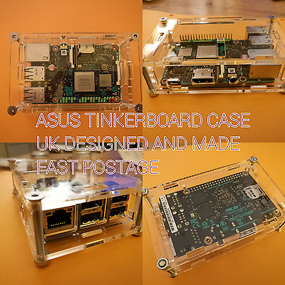 ASUS Tinker board Enclosure Box-  Clear Screw Case- Fast Post UK Tinkerboard